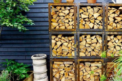 Burni wood storage - Garden Club London