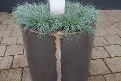 Deelbare cortenstaal plantenbakken
